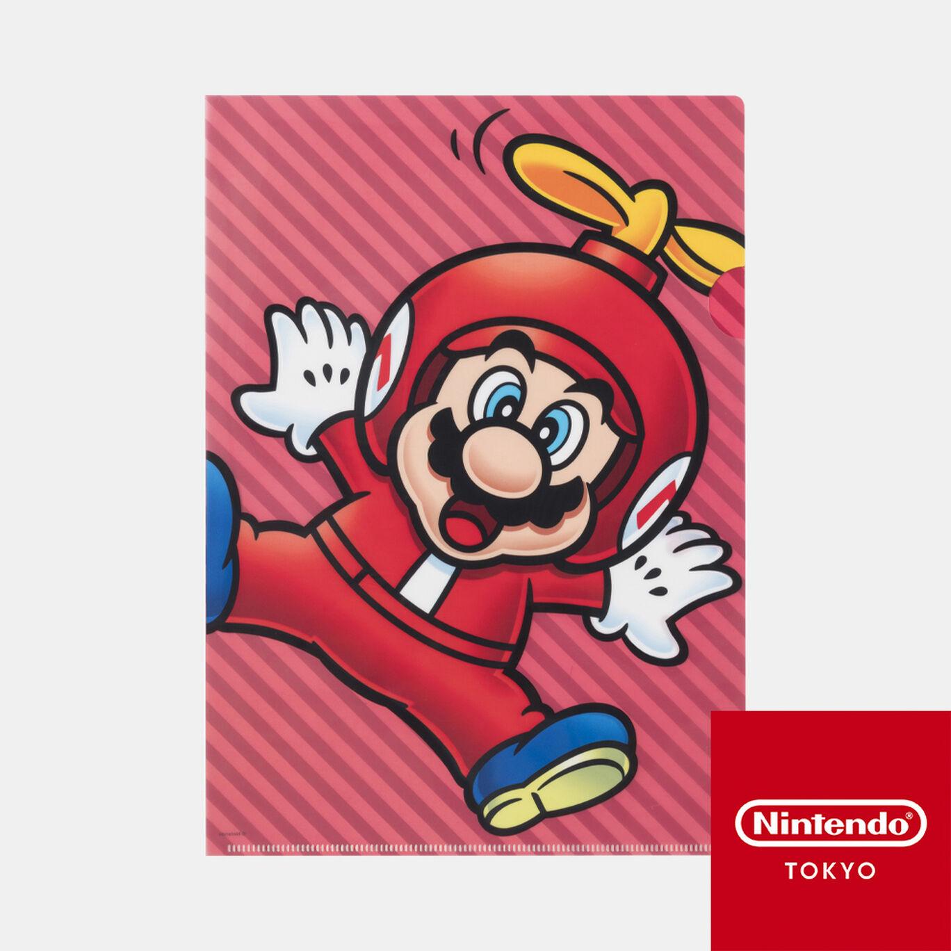 クリアファイル スーパーマリオ パワーアップ A【Nintendo TOKYO取り扱い商品】