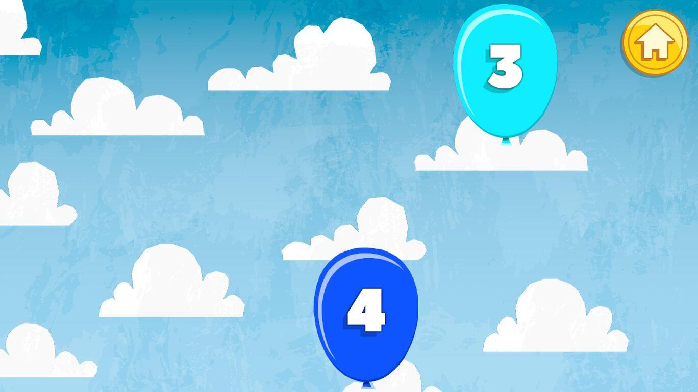 キッズプレイ 風船割り:数、文字、色、動物など