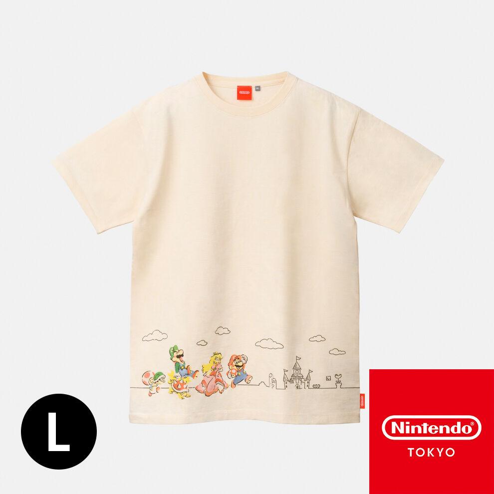 Tシャツ スーパーマリオファミリーライフ A L【Nintendo TOKYO取り扱い商品】