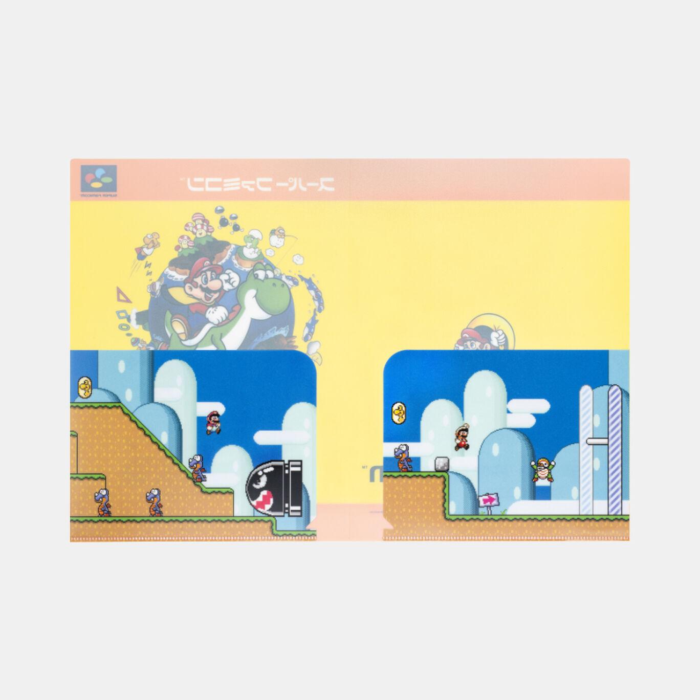 クリアファイル ダブルポケット スーパーマリオワールド【Nintendo TOKYO取り扱い商品】