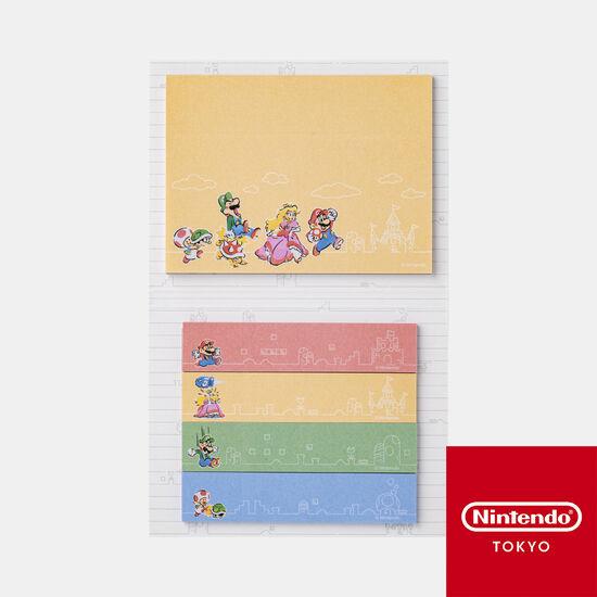 付箋セット スーパーマリオファミリーライフ【Nintendo TOKYO取り扱い商品】