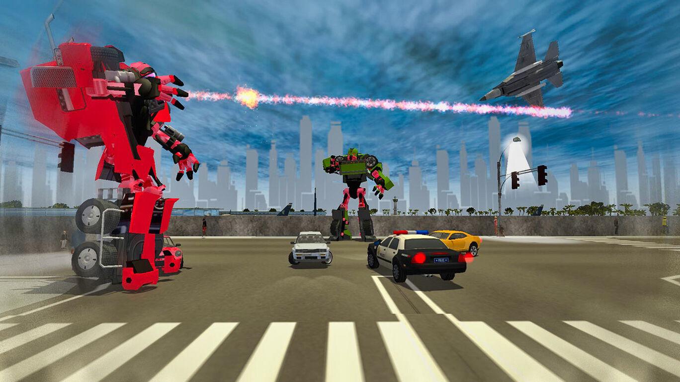 ロボットカー戦争:戦闘機を変換