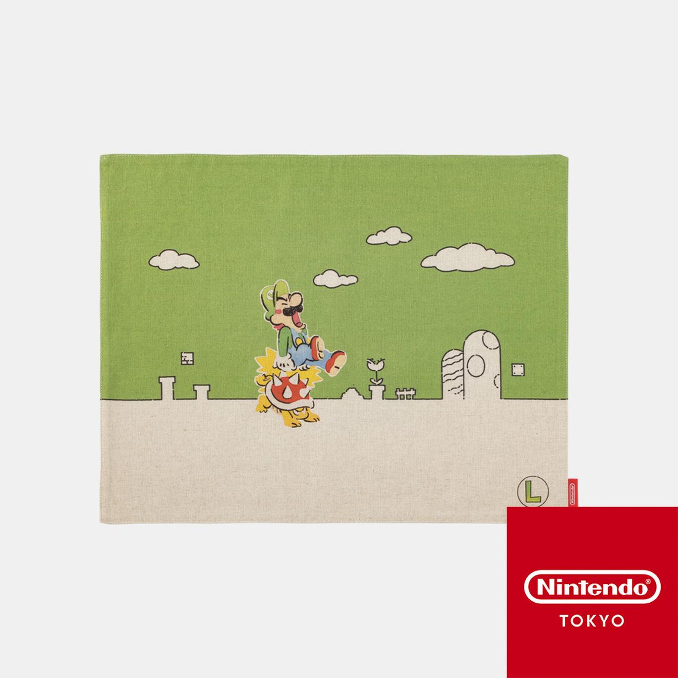 ランチョンマット スーパーマリオファミリーライフ ルイージ【Nintendo TOKYO取り扱い商品】