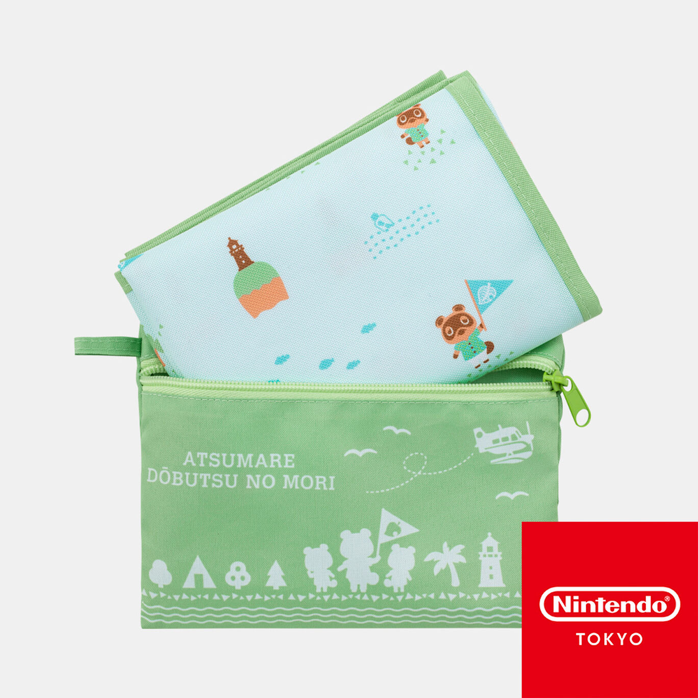 収納ポーチ付きレジャーシート あつまれ どうぶつの森【Nintendo TOKYO取り扱い商品】