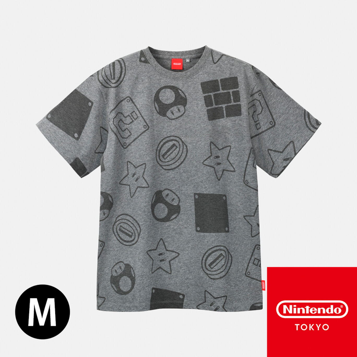 Tシャツ スーパーマリオ B M【Nintendo TOKYO取り扱い商品】