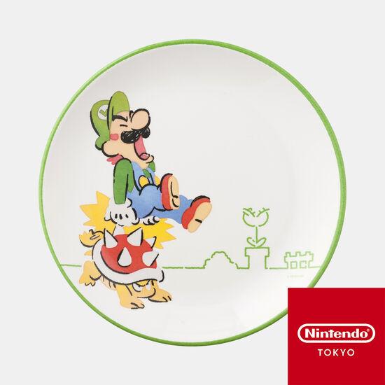 メラミンプレート スーパーマリオファミリーライフ ルイージ【Nintendo TOKYO取り扱い商品】