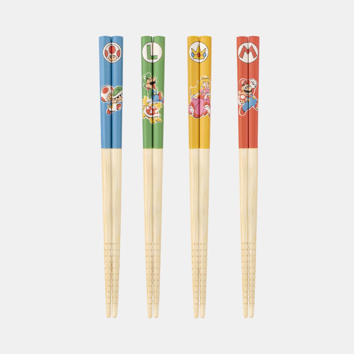 箸4本セット スーパーマリオファミリーライフ【Nintendo TOKYO取り扱い商品】