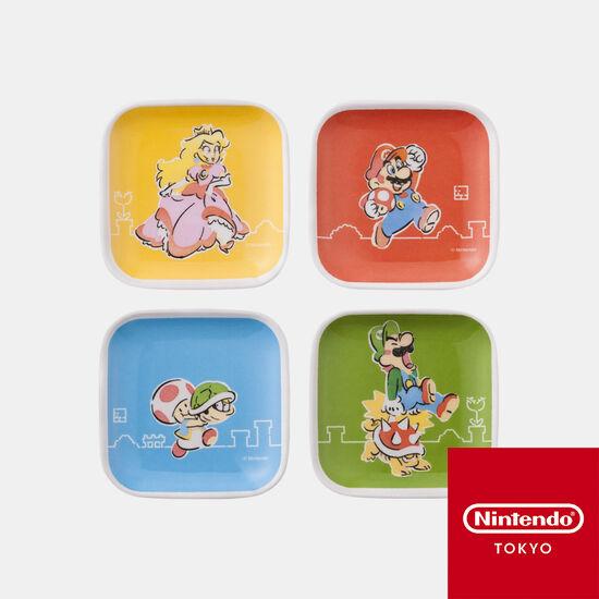メラミンミニプレートセット スーパーマリオファミリーライフ【Nintendo TOKYO取り扱い商品】