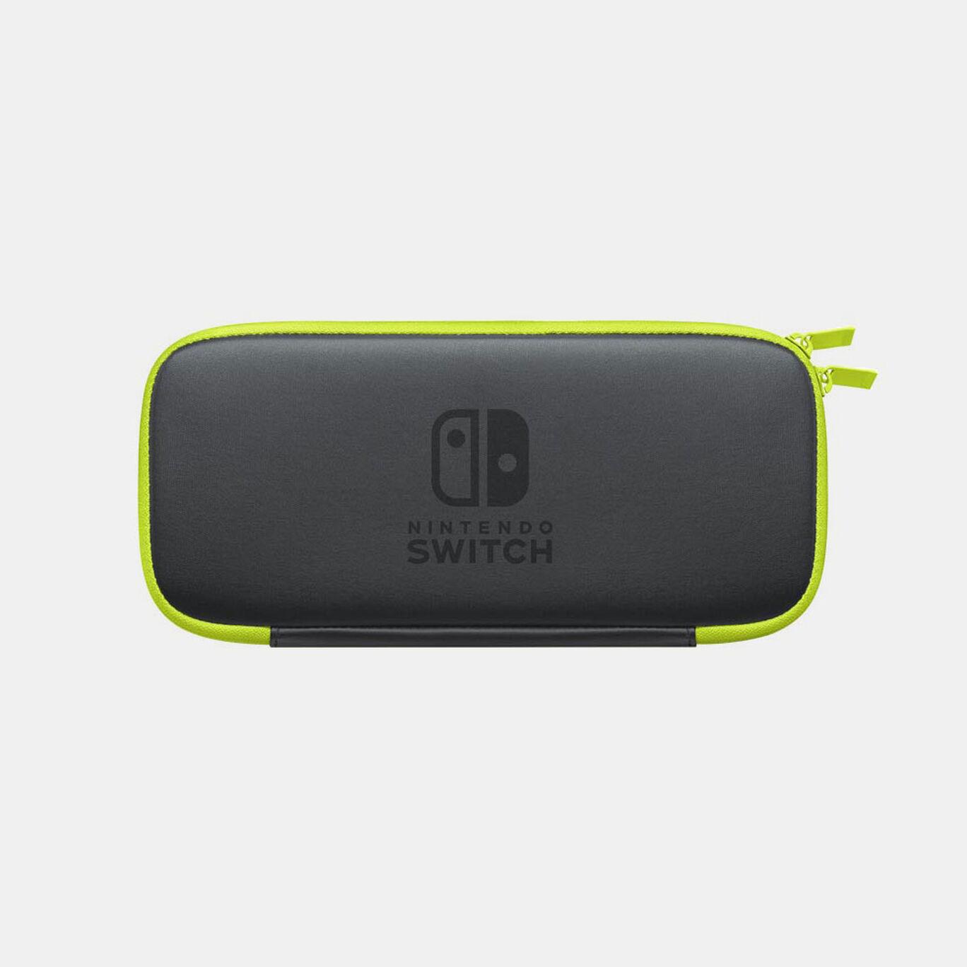 Nintendo Switchキャリングケース ネオンイエロー (画面保護シート付き)