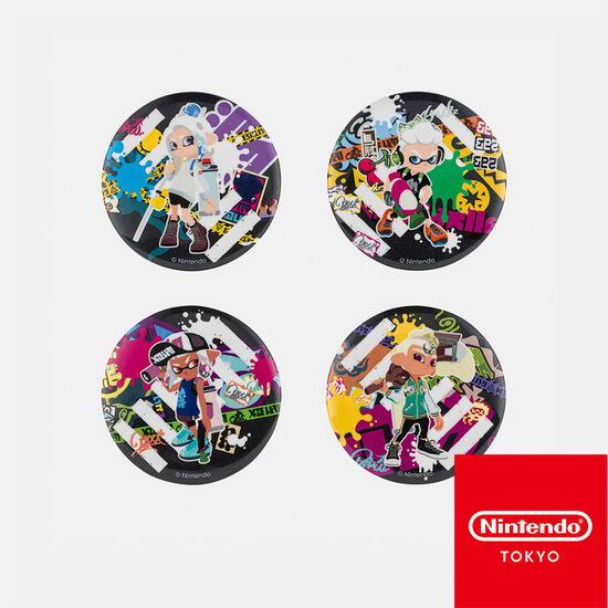 カンバッジセット CROSSING SPLATOON【Nintendo TOKYO取り扱い商品】