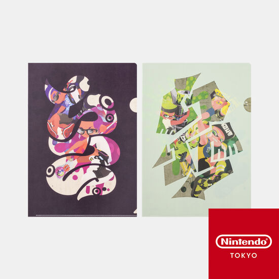 【新商品】クリアファイルセット SQUID or OCTO Splatoon【Nintendo TOKYO取り扱い商品】