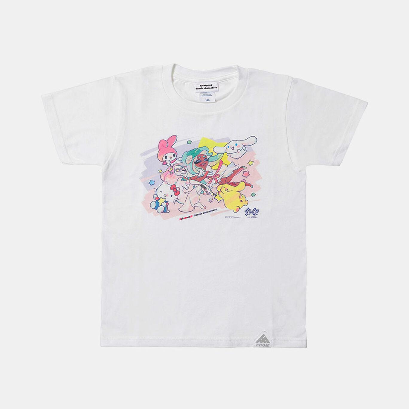 スプラトゥーン2×サンリオキャラクターズ Tシャツ テンタクルズ