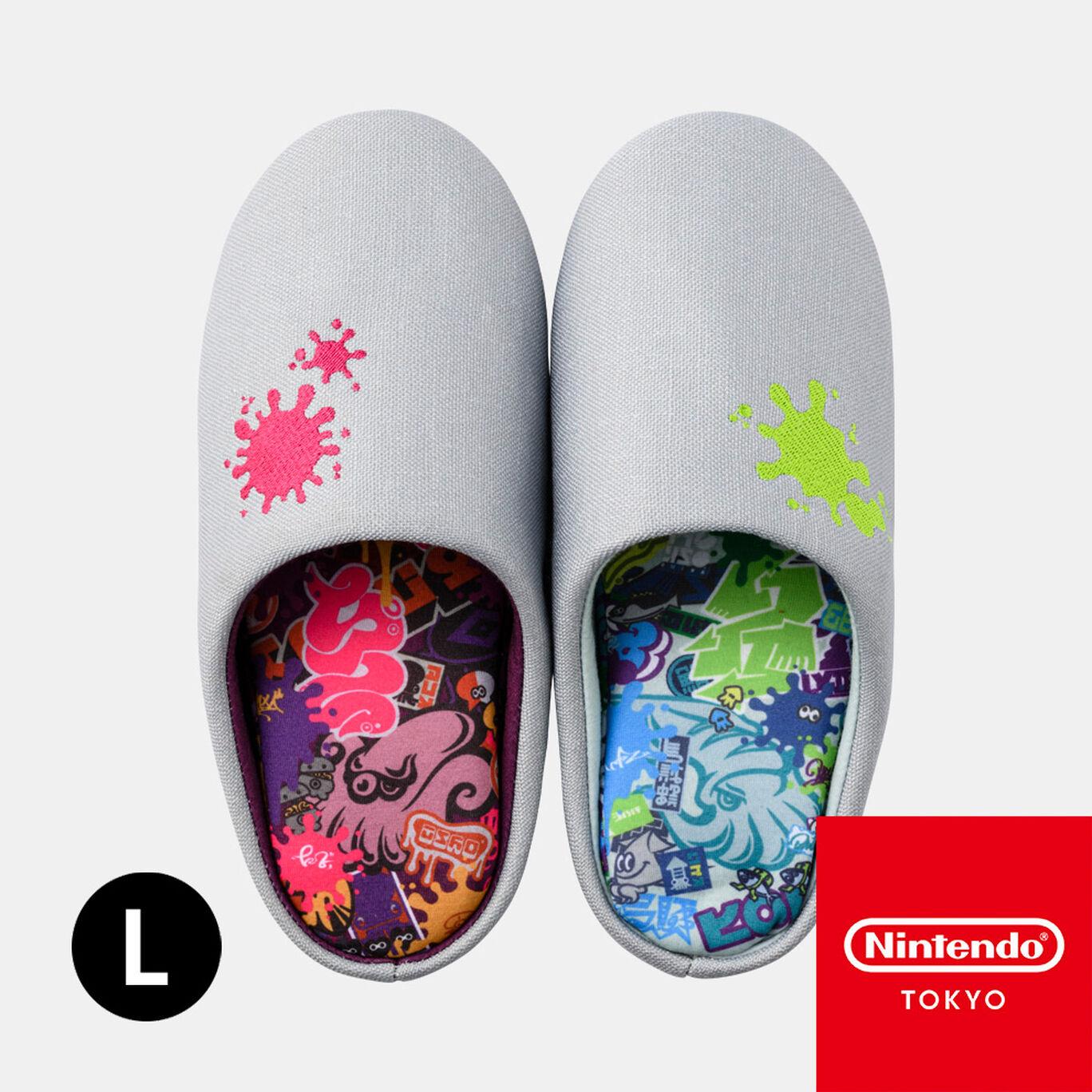 ルームシューズL SQUID or OCTO Splatoon【Nintendo TOKYO取り扱い商品】