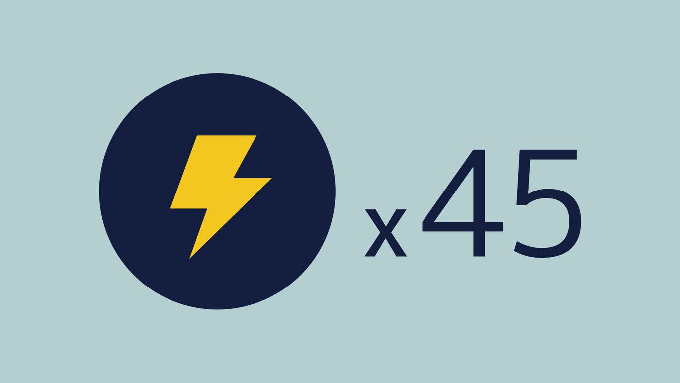 ライトニング+45