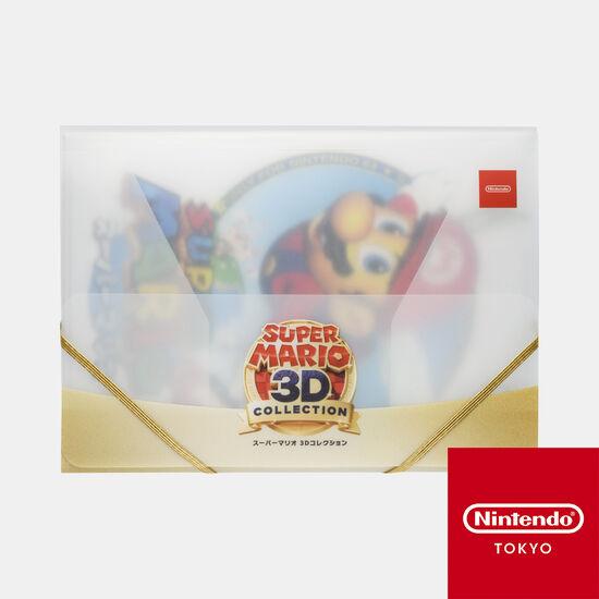 ケース入りA4クリアファイル3枚セット スーパーマリオ 3Dコレクション【Nintendo TOKYO取り扱い商品】
