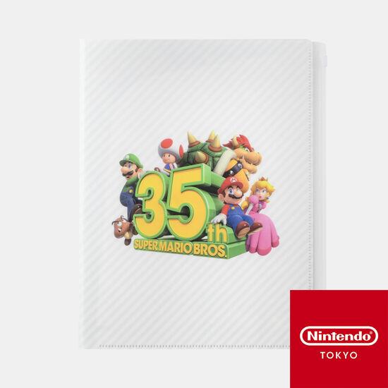 クリアファイル 6ポケット SUPER MARIO BROS. 35th【Nintendo TOKYO取り扱い商品】