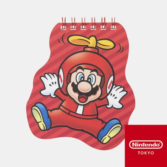 ダイカットメモ帳 スーパーマリオ パワーアップ A【Nintendo TOKYO取り扱い商品】