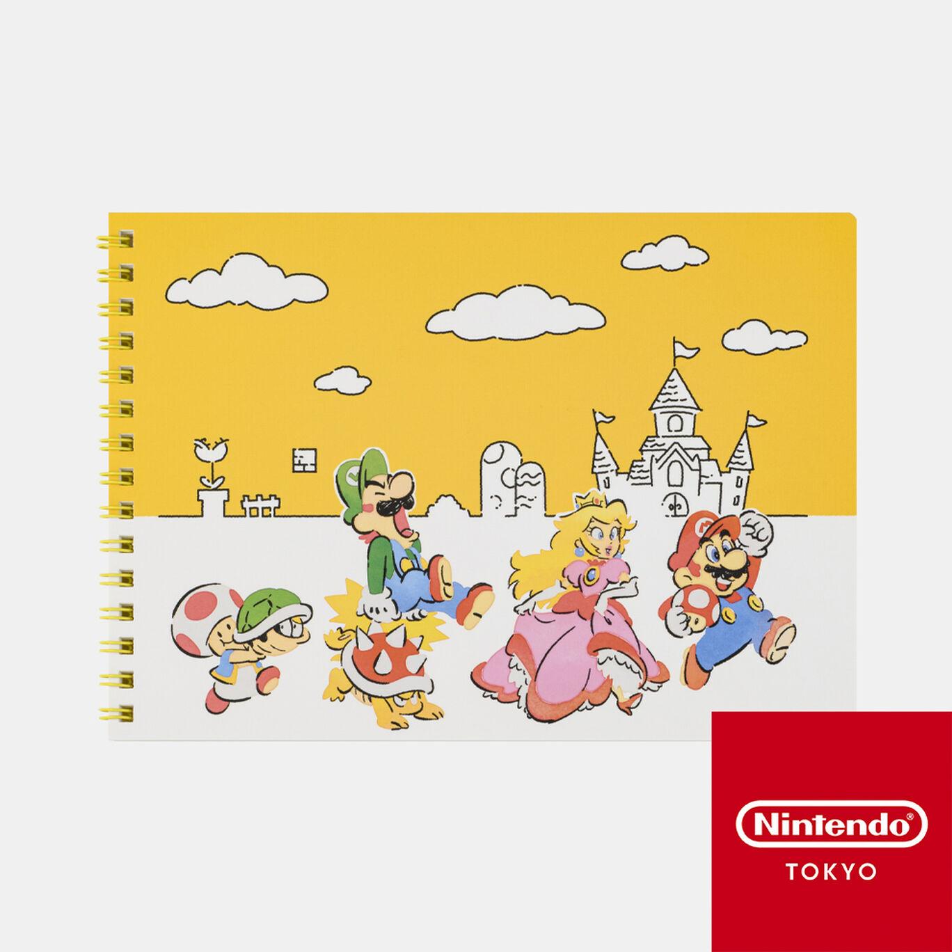A5リングノート スーパーマリオファミリーライフ【Nintendo TOKYO取り扱い商品】
