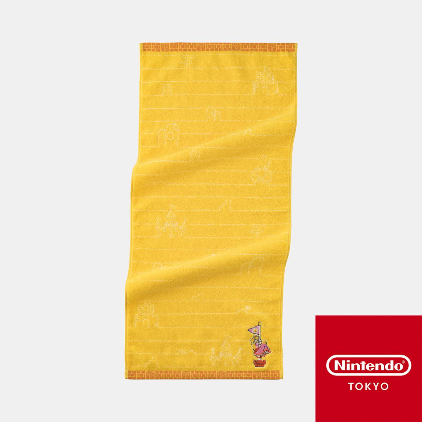 フェイスタオル スーパーマリオファミリーライフ ピーチ【Nintendo TOKYO取り扱い商品】