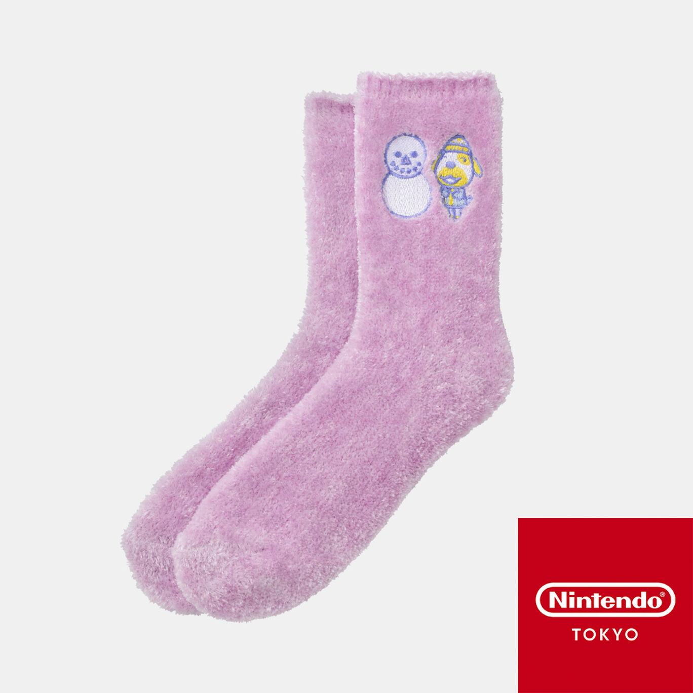 【新商品】ルームソックス ラベンダー どうぶつの森【Nintendo TOKYO取り扱い商品】