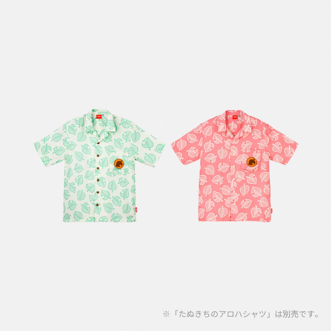 しずえのアロハシャツL あつまれ どうぶつの森【Nintendo TOKYO取り扱い商品】
