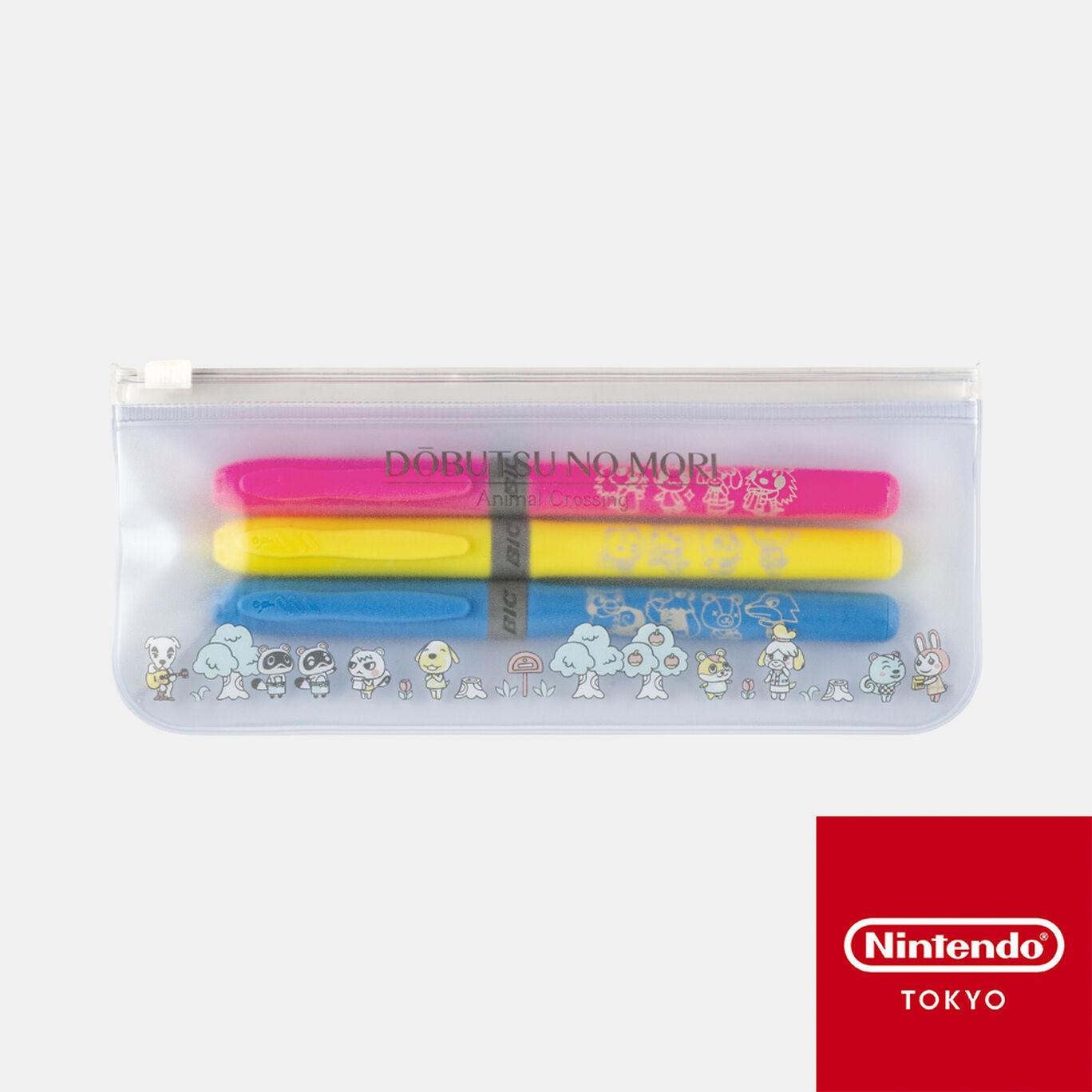 マーカーペン3本セット どうぶつの森【Nintendo TOKYO取り扱い商品】