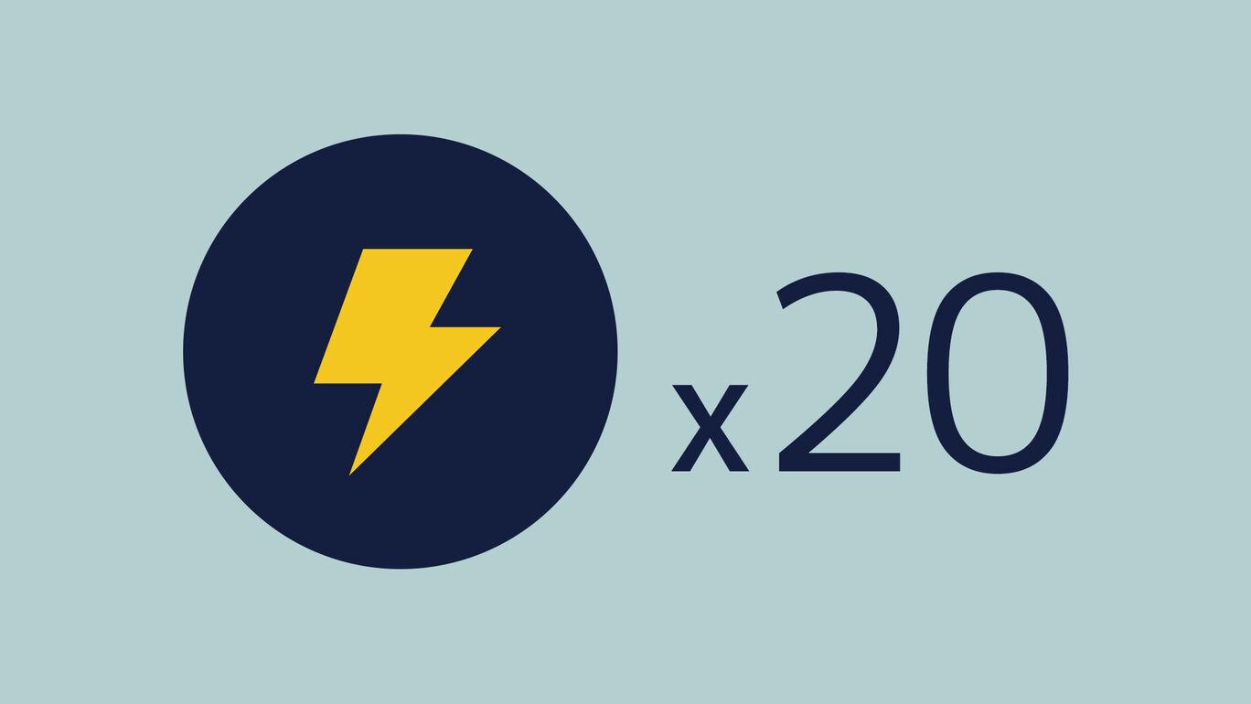 ライトニング+20