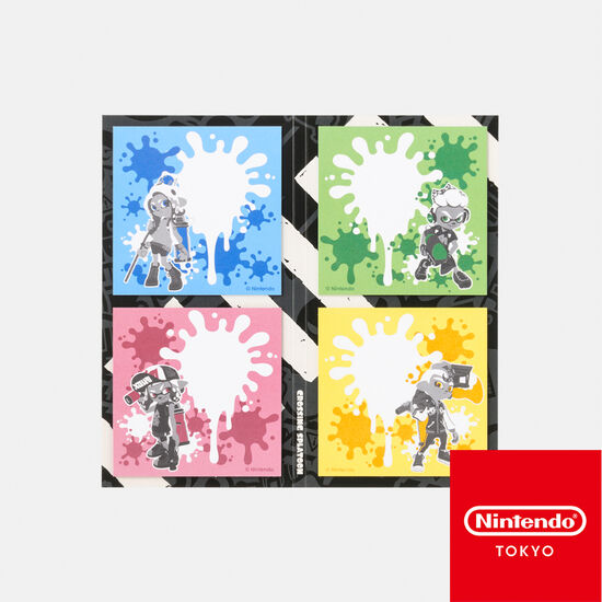 ふせんセット CROSSING SPLATOON【Nintendo TOKYO取り扱い商品】