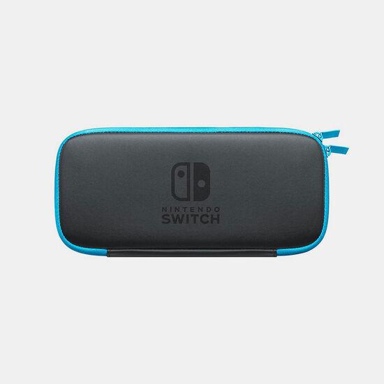 Nintendo Switchキャリングケース ネオンブルー (画面保護シート付き)