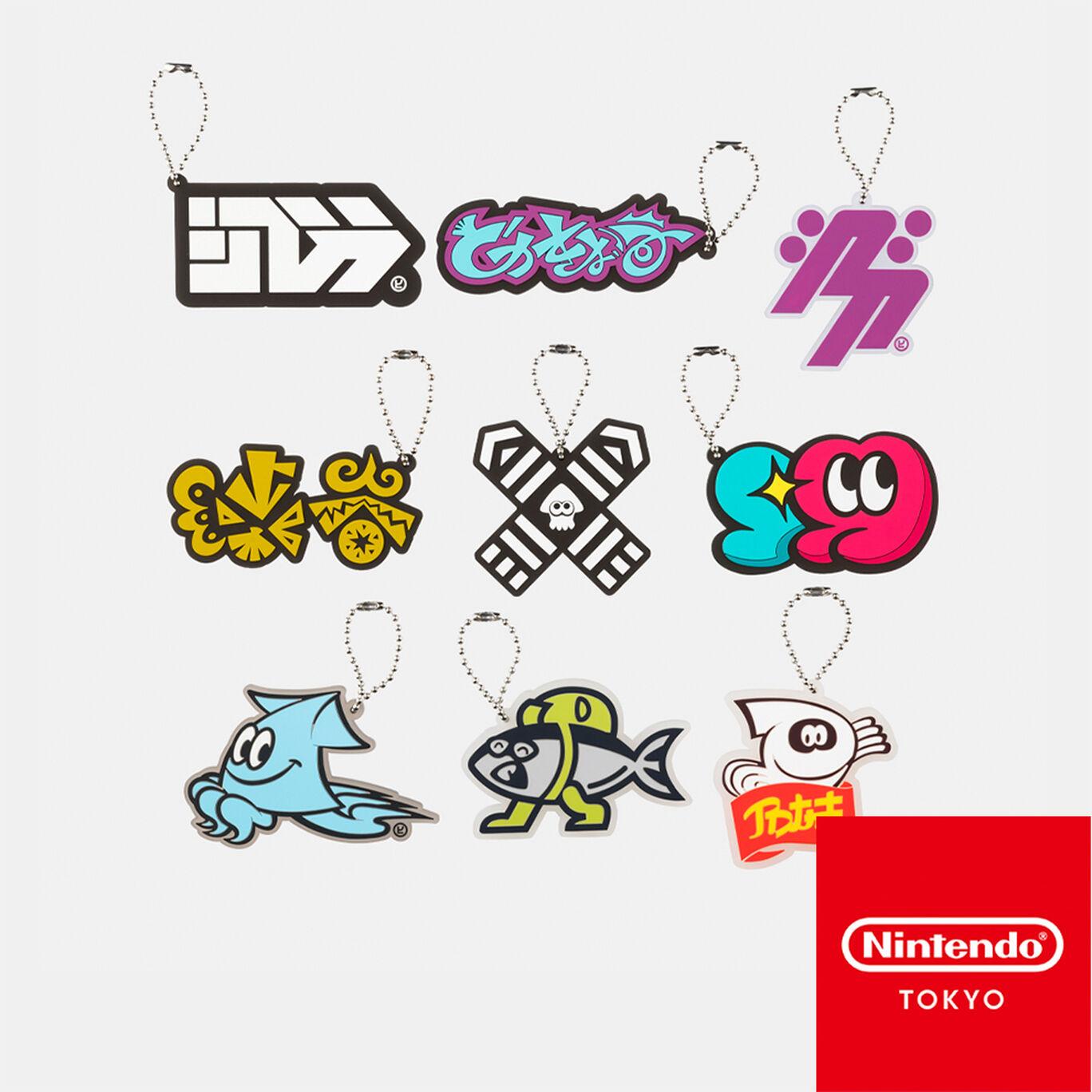 【単品】ラバーキーホルダーコレクション CROSSING SPLATOON【Nintendo TOKYO取り扱い商品】