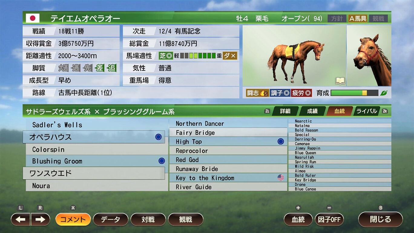 Winning Post 9 追加コンテンツ 最強古馬 購入権セット 全2頭