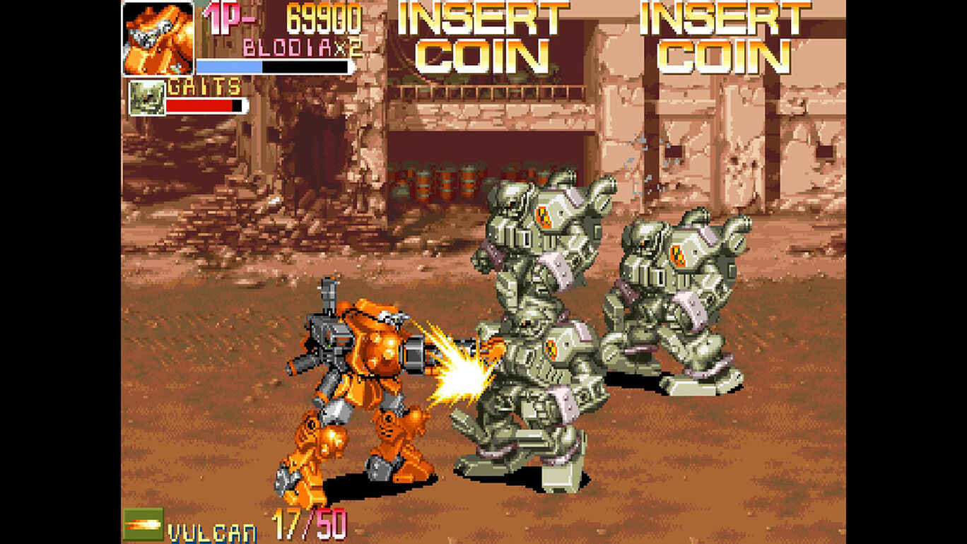 Capcom Arcade Stadium:パワードギア - STRATEGIC VARIANT ARMOR EQUIPMENT -