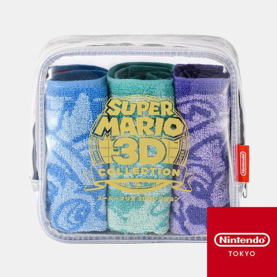 ミニタオル3枚セット スーパーマリオ 3Dコレクション【Nintendo TOKYO取り扱い商品】