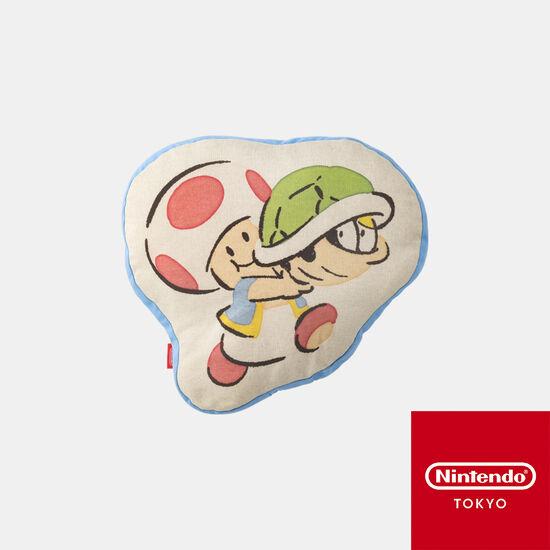 ダイカットクッション スーパーマリオファミリーライフ キノピオ【Nintendo TOKYO取り扱い商品】