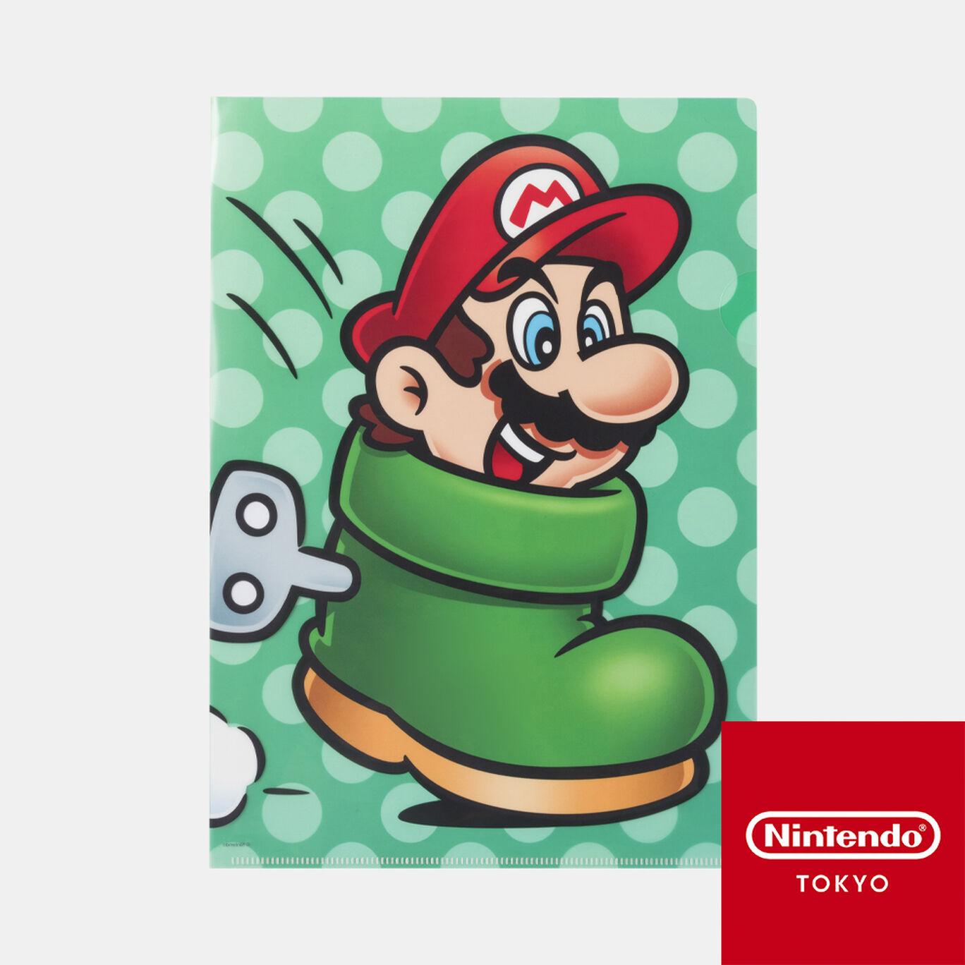 クリアファイル スーパーマリオ パワーアップ D【Nintendo TOKYO取り扱い商品】