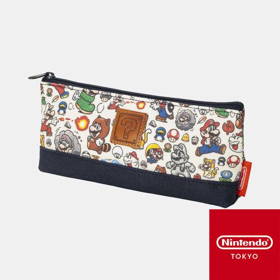 ペンケース スーパーマリオ パワーアップ【Nintendo TOKYO取り扱い商品】