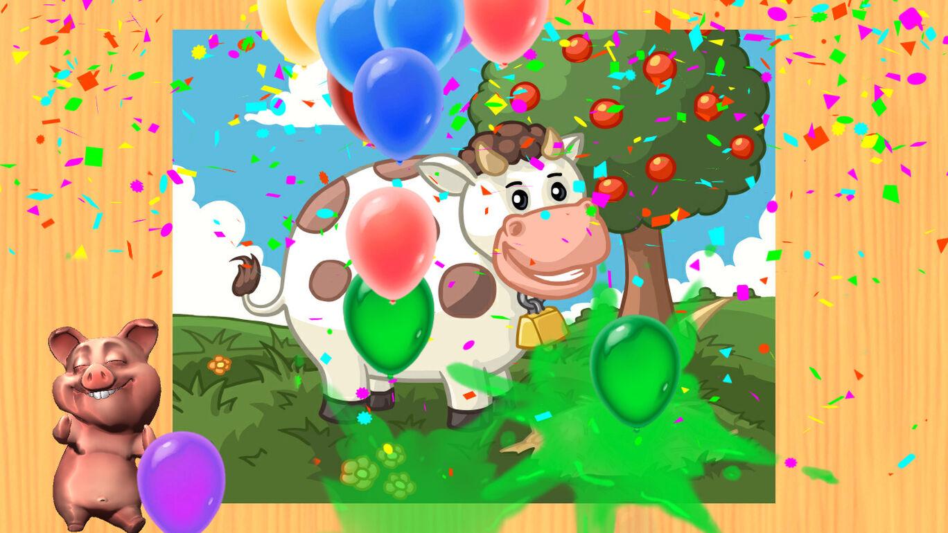 Funny Farm - 子供と幼児のための面白い農場の動物のジグソーパズルゲーム