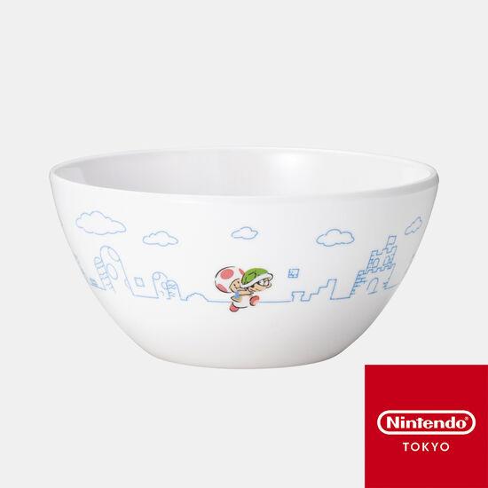 メラミンボウル スーパーマリオファミリーライフ キノピオ【Nintendo TOKYO取り扱い商品】