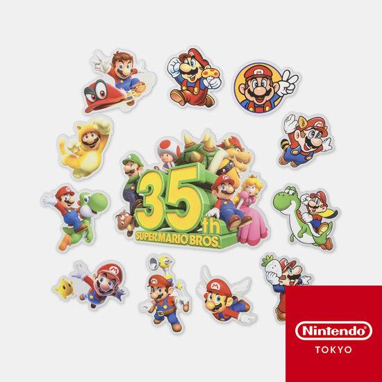 ステッカーセット SUPER MARIO BROS. 35th【Nintendo TOKYO取り扱い商品】