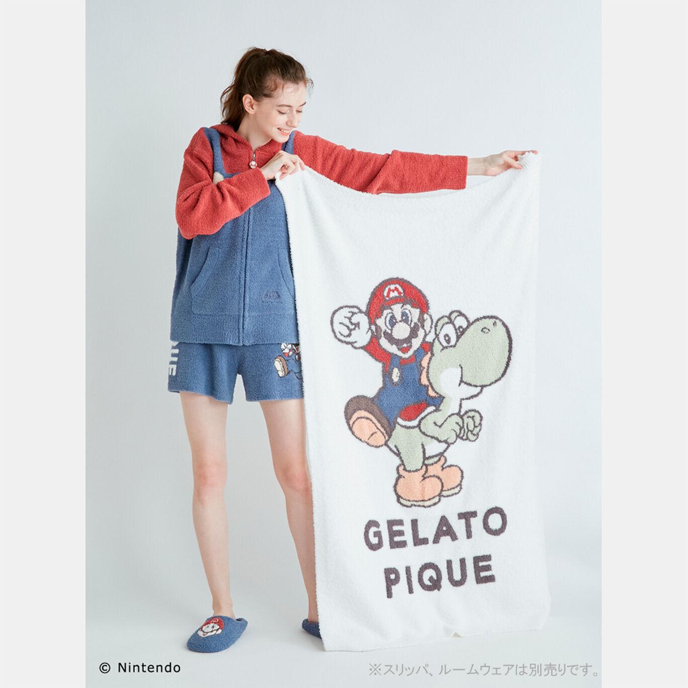 【スーパーマリオ】キャラクターブランケット OWHT(マリオ&ヨッシー)【SUPER MARIO meets GELATO PIQUE】