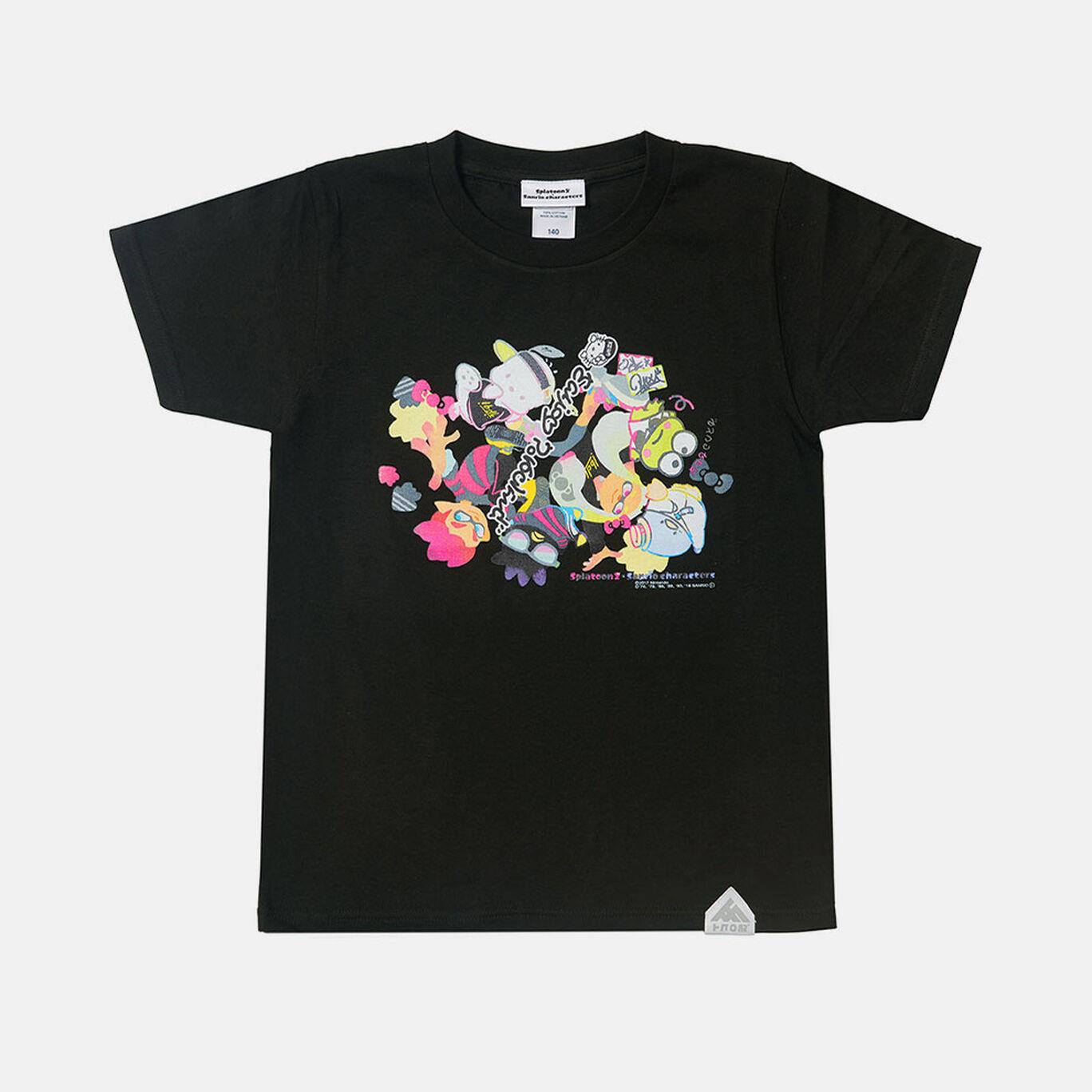 スプラトゥーン2×サンリオキャラクターズ Tシャツ ガール&ボーイ