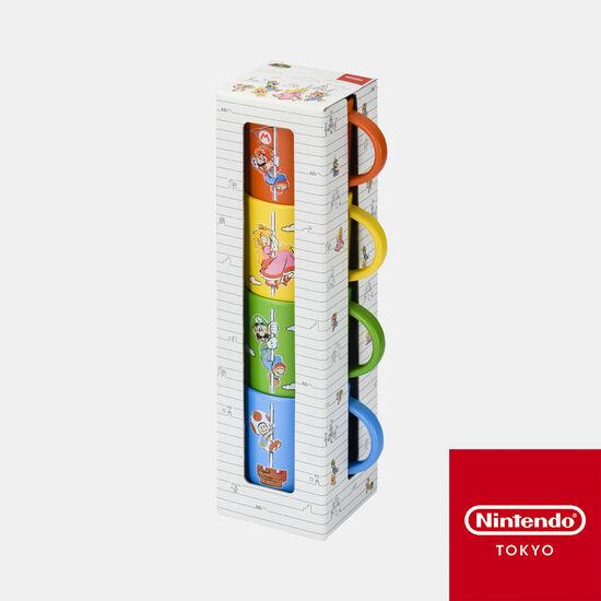 スタッキングカップセット スーパーマリオファミリーライフ【Nintendo TOKYO取り扱い商品】
