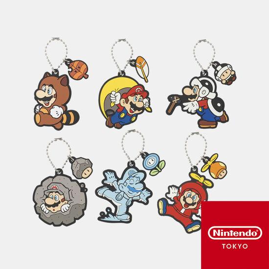 【単品】ラバーキーホルダーコレクション スーパーマリオ パワーアップ  第二弾【Nintendo TOKYO取り扱い商品】