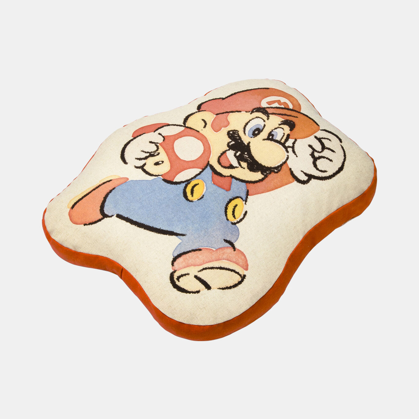 ダイカットクッション スーパーマリオファミリーライフ マリオ【Nintendo TOKYO取り扱い商品】