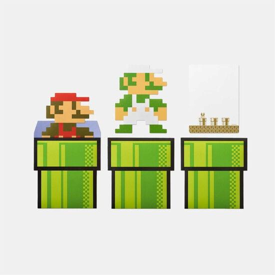 スーパーマリオ ホーム&パーティ メッセージカード&封筒(8-bit キャラクター)