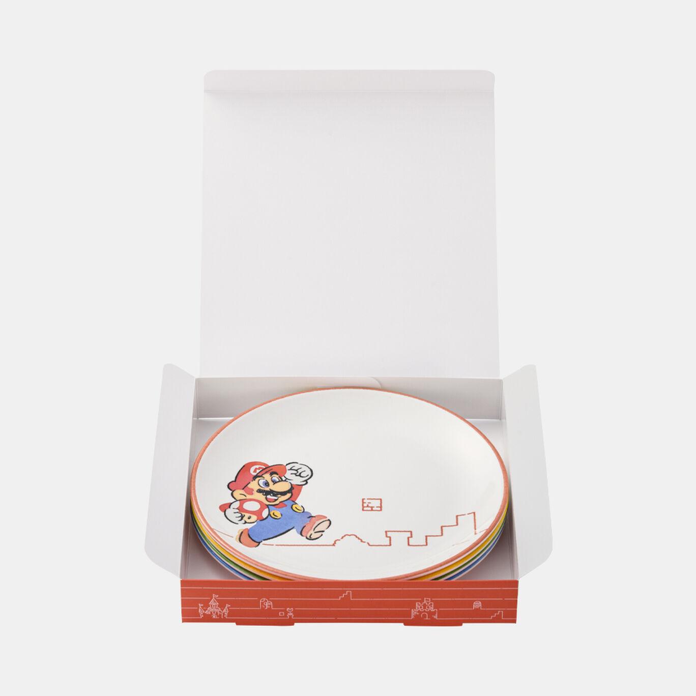 メラミンプレート 4個セット スーパーマリオファミリーライフ【Nintendo TOKYO取り扱い商品】