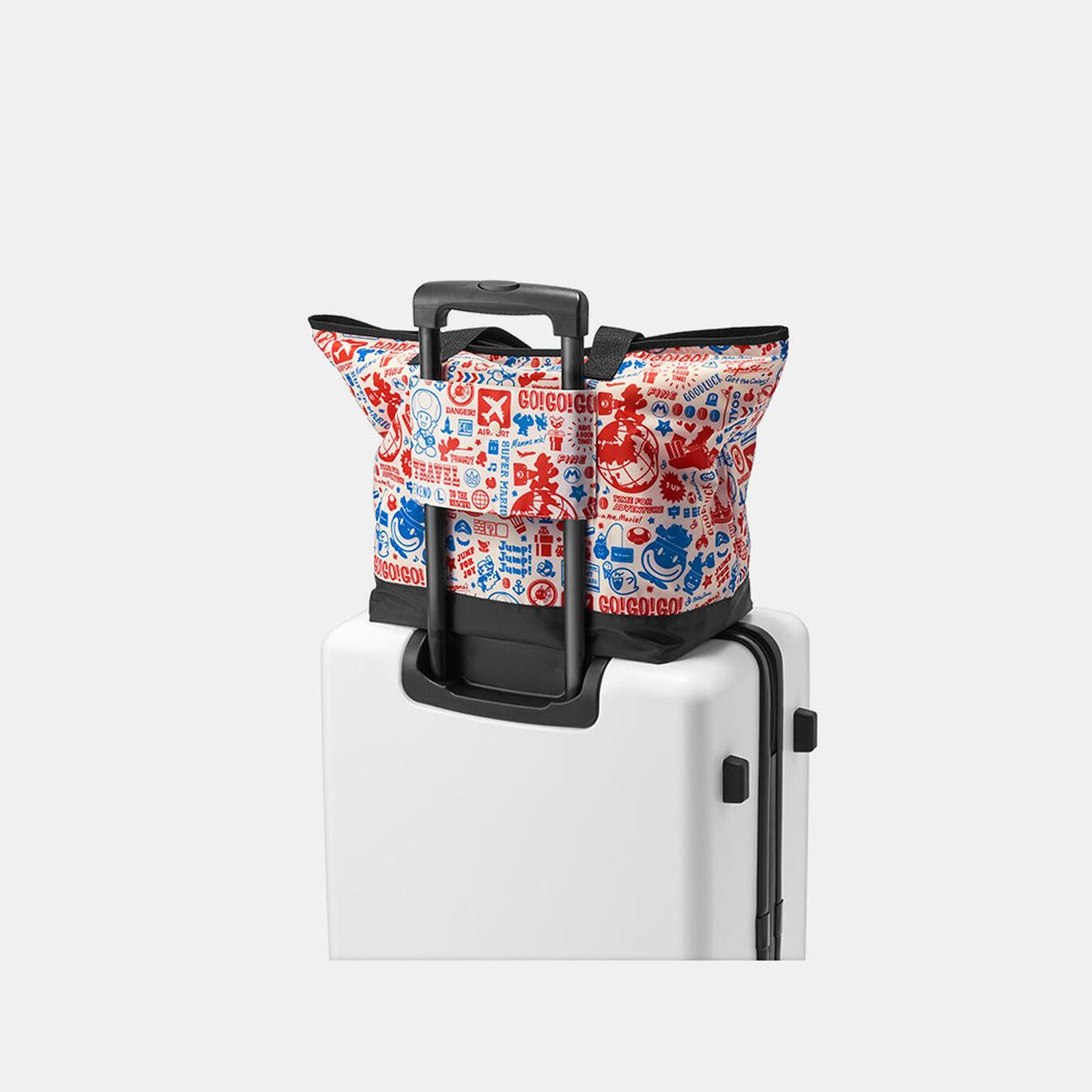 折りたたみトートバッグ スーパーマリオ(オリジナルトラベル柄)