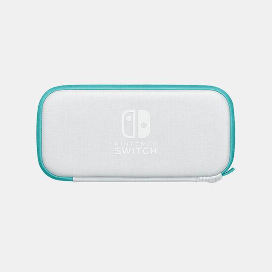 Nintendo Switch Liteキャリングケース ターコイズ(画面保護シート付き)