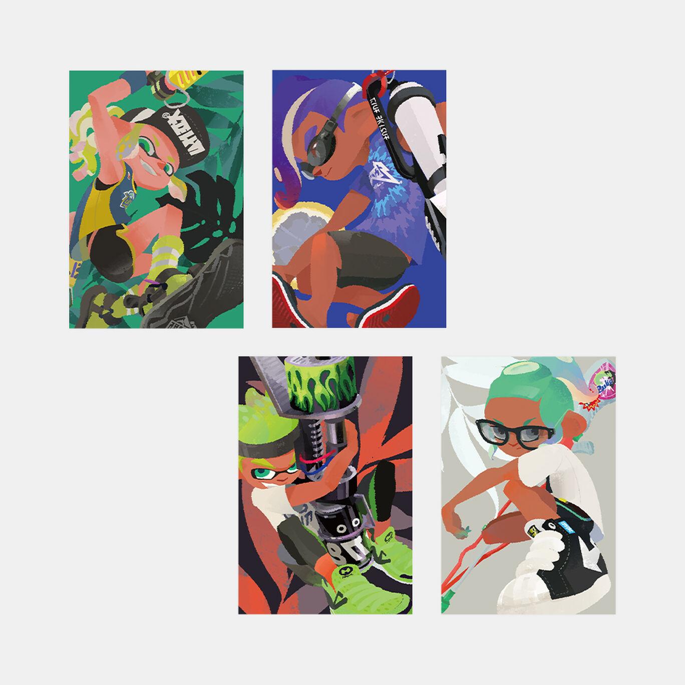スプラトゥーン2 イカす夏のポストカードコレクション(8種)