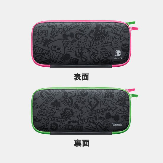 Nintendo Switchキャリングケース スプラトゥーン2エディション(画面保護シート付き)